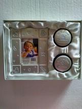 Baby Boy Photo Frame Gift Set Keepsake Velvet Boxes Lovable Friends  - $19.95
