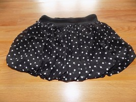 Girls Size Large Knit Works Black White Polka Dots Bubble Hem Skirt Skor... - $15.00