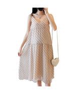 Maternity Slip Dress Loose V Neck Sweet Sleeveless Mom Dress - $30.99