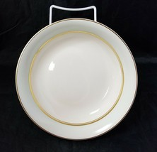The French Saxon China Co Soup Salad Bowls Set of 4, 22kt Gold, Pottery Made USA image 1