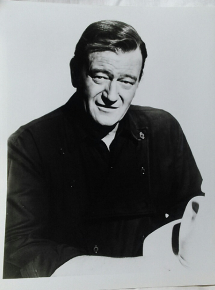 Vintage John Wayne Studio Black and White Photo