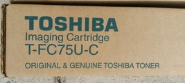 GenuineToshiba Cyan (Blue) Toner T-FC75U-C New Sealed e-STUDIO 5560C,656... - $125.29
