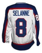 Custom Name # Winnipeg Jets Wha Hockey Jersey New White Teemu Selanne Any Size image 5