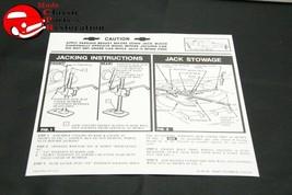 61 Impala Jack Instructions Decal GM # 3782520 - $15.75