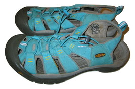 Keen Sandals Newport US 9.5 EU 40 Teal Green Bungee Strap Anti Odor Womens - $34.64