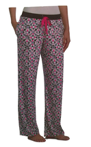 DKNY Womens Stretch Velour Pant, Diamond Geo, Size S - $12.86