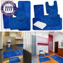 Effiliv Bathroom Rugs Set 5 Piece Memory Foam Mats + Eva Shower Liner, E... - $66.23