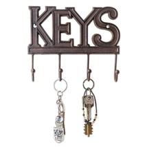 Decorative Wall Key Holder Cast Iron Hook Keys Hanger Organizer Rack Sto... - $18.25