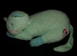 TY 2000 KITTYBABY SOFT BABY GREEN KITTY CAT RATTLE STUFFED ANIMAL PLUSH ... - $16.83