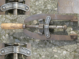 VTG WWII TIME GERMAN REFORM ZWINGE EDGE CLAMP DRP WOODWORKING CARPENTER ... - $79.90