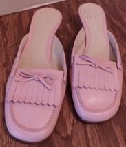 Etienne Aigner pink heeled slip on shoes-Size 8 1/2 medium- 1 1/2 inch heel - $26.18
