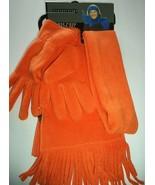 Relativity Ladies 3 Piece Scarf & Glove Set,Orange - $18.55
