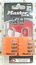 Master Lock, 2 Pack, 4684T, TSA Luggage Lock Orange sealed new!  store. image 1