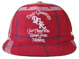 DGK Burgundy Red Plaid For Those Who Come From Nothing Snapback Baseball Hat Cap image 1