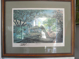 Ken Zylla original print, Nary a Care, Commemorative print, framed, signed - $90.25