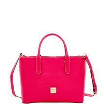 Dooney & Bourke Brielle Hot Pink Saffiano Leather Magnetic SnapShoulder/... - $369.99