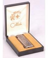 Vtg Colibri Lighter-Japan-Original Box-Floral Scroll Pattern - $74.79