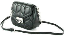 Michael Kors Peyton Cross Body Bag Quilted Leather Small Handbag Black - $300.67