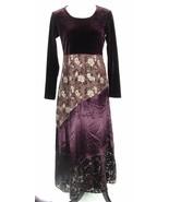 CDC Size 6, 8 Velvet Maxi Dress Party Cocktail - $12.99