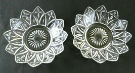 Lot of 2 Vintage Small Round Clear Glass Serving Dishes With Scalloped S... - $14.84