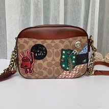 Coach 31065 Coach X Keith Haring Camera Bag In Signature Patchwork - $250.00