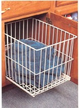 KV Roll Out Wire Hamper White Large Wide - $98.39