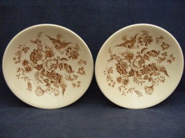 "2 Ridgway Atherstone Staffordshire England 6 1/8"" Soup Bowls Good Condition - $19.95"