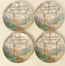 "Mikasa French Villa High Fired Iron Stone Salad Plates 8 5/8"" Set of 4 - $37.62"