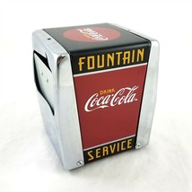 Vintage 1999 Coca-Cola Coke Fountain Service Napkin Holder Metal - $19.61