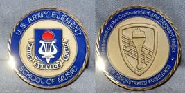 Big! Commander & Sgt Maj U.S.Army Element - Army School Of Music! Variation Coin - $29.69