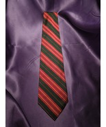 Polo by Ralph Lauren 100% Silk Tie Hand Made in USA Red Yellow Green Stripe - $53.46