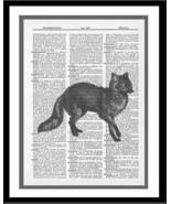 Fox Print Animal Dictionary Art Print Wildlife animal023 - $10.99