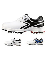 Golf Waterproof Breathable Male Sneakers Wide Sole Spin Lace White black... - $166.22