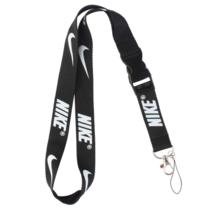 Lanyard Keychain Holder Key Chain Black Clip with Webbing Strap (Nike) - $7.72