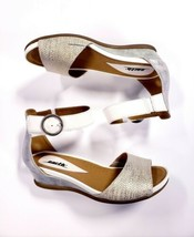 Earth Women's Hera Double Strap Sandals Silver Snake Print Metallic Size... - $44.45