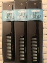 4 Pack Lot  Conair Lift & Style Hair Comb New in Pack - $15.35