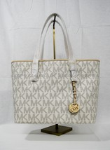 NWT Michael Kors Jet Set Signature Travel Top-Zip Tote in Vanilla - $179.00