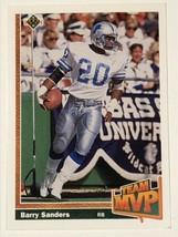 1991 Upper Deck #458 Barry Sanders Detroit Lions Team MVP NFL Football Card - $0.99
