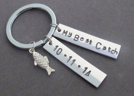 My Best Catch Key Chain,Fishing Keychain with Cute Fish Charm, My Best C... - $14.40