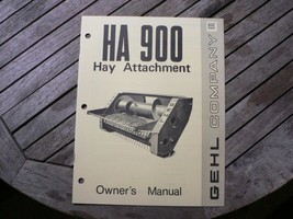 Gel HA900 Hay Attachment Owners Operators Manual Guide Book West Bend WI - $50.00