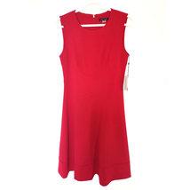 nwt T Hilfiger Scuba Crepe Fit-&-Flare Dress red 6 - $50.00