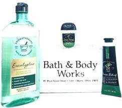 Bath & Body Works Eucalyptus Spearmint Body Wash, PocketBac, Hand Cream Set - $20.05