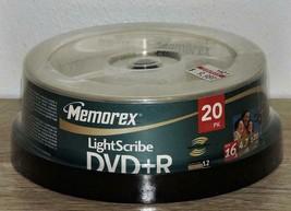Memorex 4.7GB, 16X, 120 Minute LightScribe DVD+R, 20 Pack 04708 - $35.79