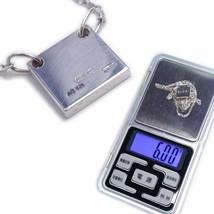 Gucci Mini Square Plate Logo Necklace Sv925 925 Hallmark F/S - $357.98