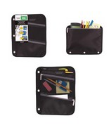 3-Ring Binder Zipper Pencil Pouch Black 3 pockets Five Star School Offic... - $7.91