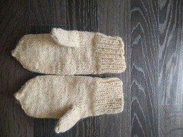 Handmade Wool Knit Patterned mitten glove baby age 1-5 year NEW - $180,33 MXN