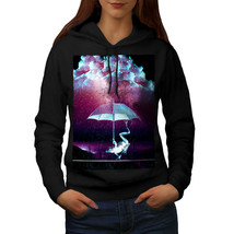 Umbrella Space Animal Sweatshirt Hoody Storm Night Women Hoodie - $21.99+