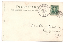 DPO PA 1907 Bigmount York County Cover Helbock Scarcity 5 UND Easter Pos... - $24.00