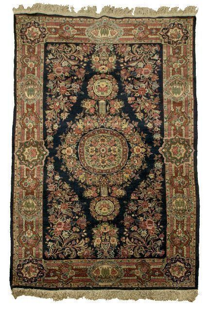 "Primary image for Persian Qazvin Hand Made Wool rug 4' 4"" x 7' early 1940s"