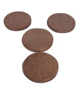 Round Coasters (set of 4) Handcrafted from Maple Hardwood - $18.00